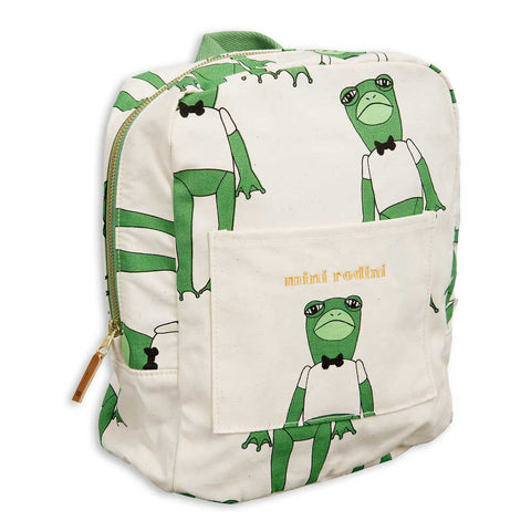 Mini Rodini SS17 Green Frog Child's Backpack at Yellow Lolly