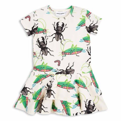 Mini Rodini SS17 Insects Frill Dress at Yellow Lolly