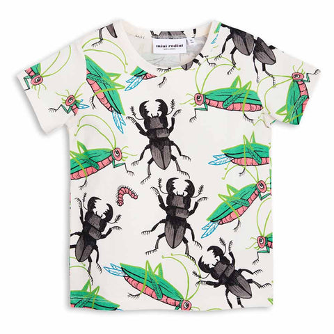Mini Rodini Insects Short Sleeve T-Shirt - Yellow Lolly