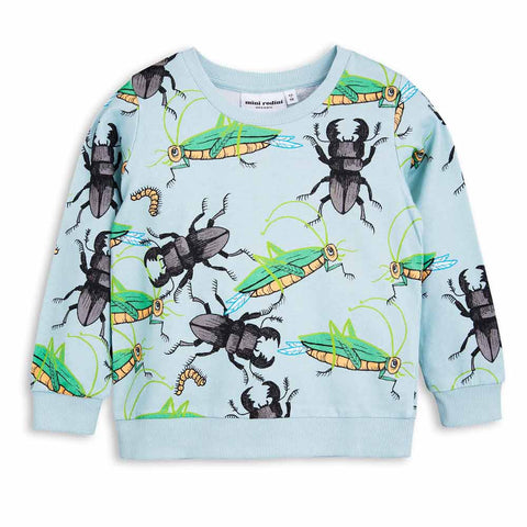 Mini Rodini Light Blue Insects Sweatshirt