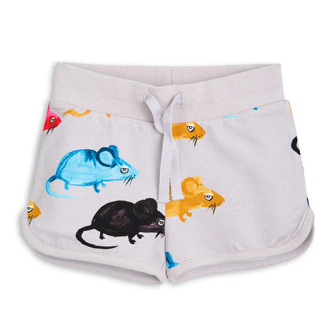 Mini Rodini SS17 Light Grey Mr Mouse Kid's Sweat Shorts