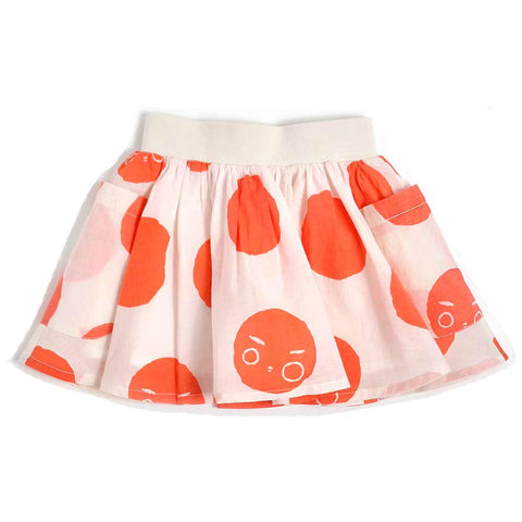 Nadadelazos Red and White Nar Skirt - Yellow Lolly