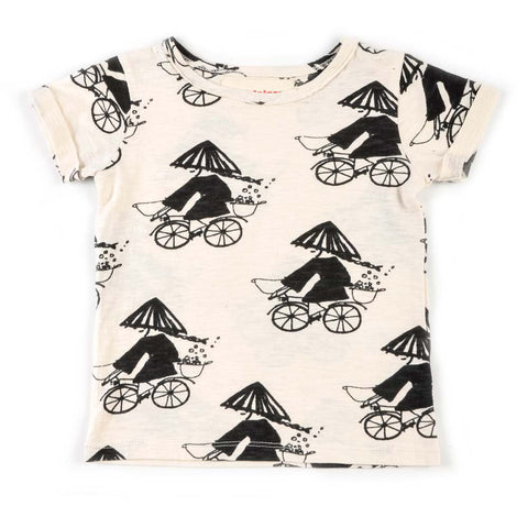 Nadadelazos Cream Kiyoko Bicycle T-Shirt - Yellow Lolly