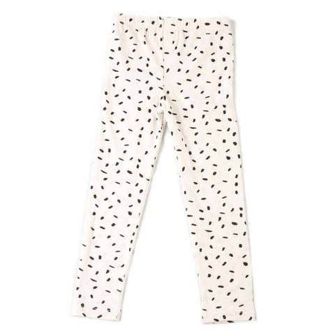 Nadadelazos White Rice Print Leggings