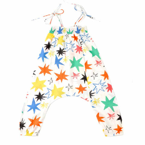 Nadadelazos White Hoshi Star Jumpsuit - Yellow Lolly