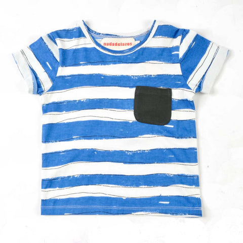 Nadadelazos Blue Stripes T-Shirt - Yellow Lolly