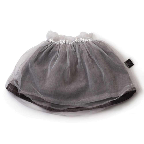 Nununu Grey Tulle Kids Skirt at Yellow Lolly