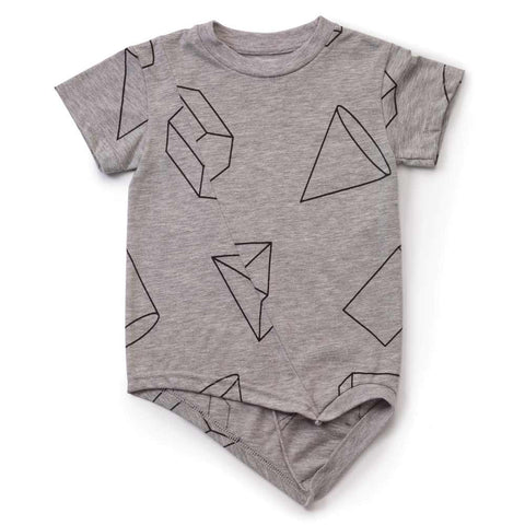 Nununu Grey Geometric Penguin T Shirt at Yellow Lolly