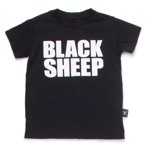 Nununu SS17 Black Sheep Child's T Shirt at Yellow Lolly