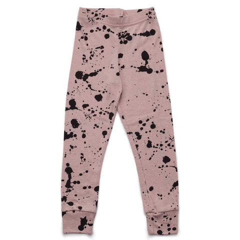 Nununu SS17 Pink Splash Slub Child's Leggings at Yellow Lolly
