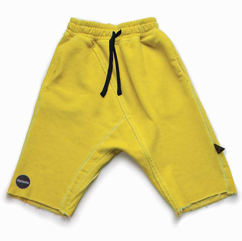Nununu SS17 Yellow Dusty Yellow Kids Sweat Shorts at Yellow Lolly