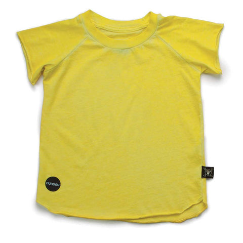 Nununu SS17 Dyed Raglan Dusty Yellow Kid's T Shirt at Yellow Lolly