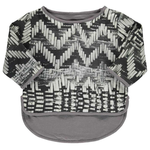Popupshop Grey Long Sleeve Basket Tee