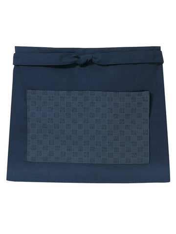 Block Check Short Cafe Apron