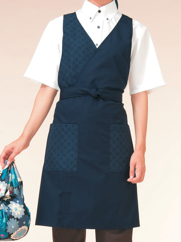 Block Check Garcon Apron