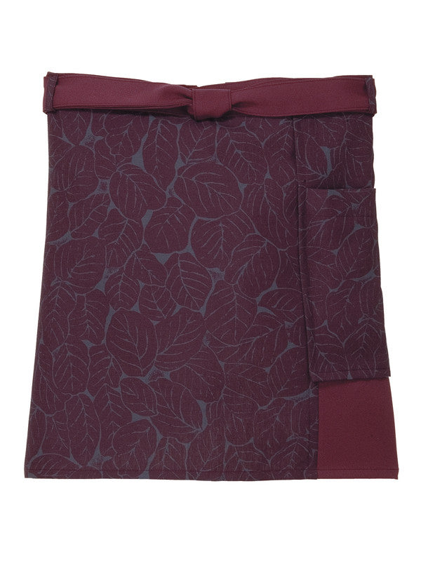 Leaf Pattern Short Cafe Apron