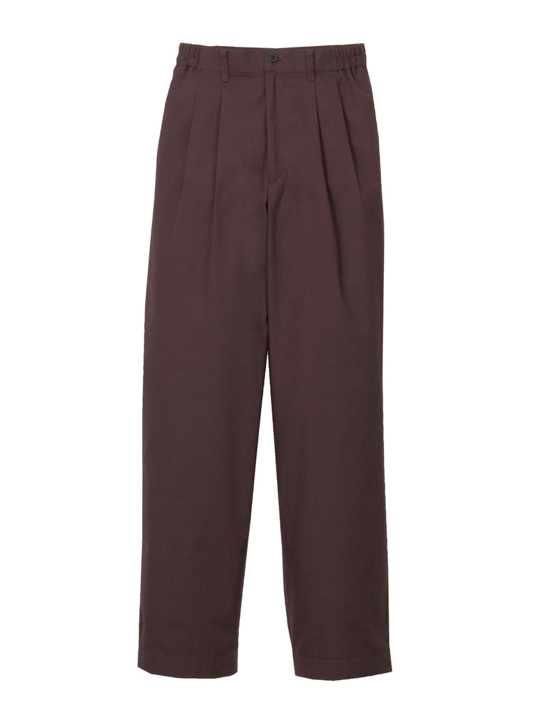 Shantung Double Pleated Pants Women