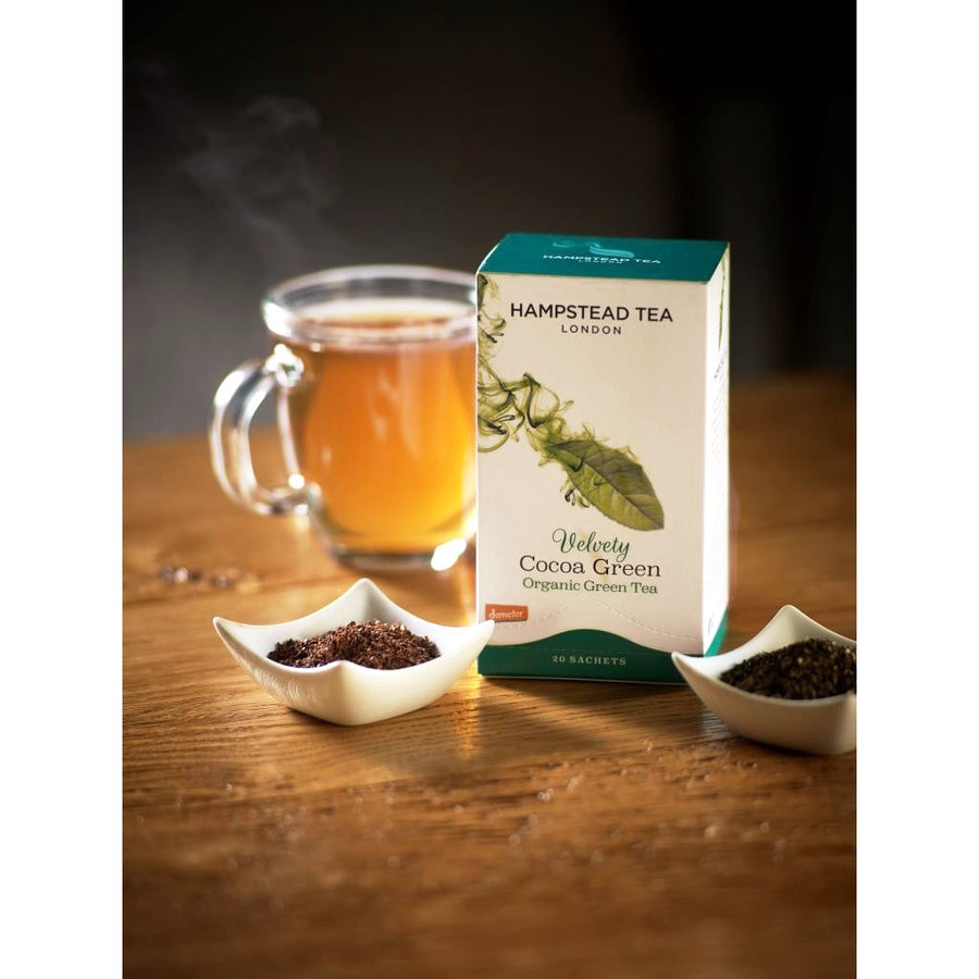 Organic Velvety Cocoa Green - Hampstead Tea - Biodynamic and Organic Teas