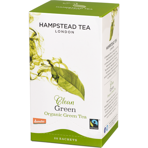 Trade Case of Organic Fairtrade Clean Green - Hampstead Tea - Biodynamic, Organic and Fairtrade Tea