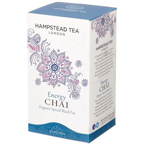 Trade Case of Organic Energy Chai - Hampstead Tea - Biodynamic, Organic and Fairtrade Tea - 1