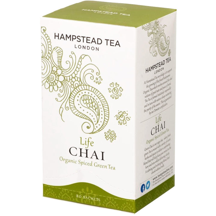 Trade Case of Organic Life Chai 4x20 Tea Bags - Hampstead Tea - Biodynamic and Organic Teas
