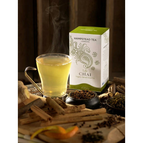 Trade Case of Organic Life Chai - Hampstead Tea - Biodynamic, Organic and Fairtrade Tea - 2