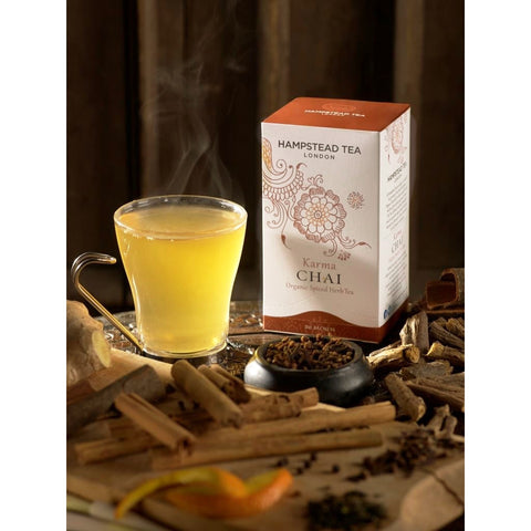 Trade Case of Organic Karma Chai - Hampstead Tea - Biodynamic, Organic and Fairtrade Tea - 2