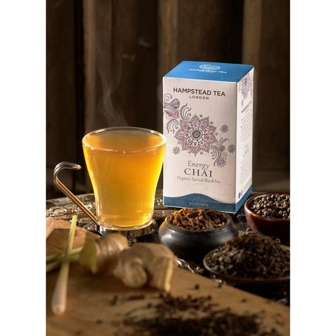 Trade Case of Organic Energy Chai - Hampstead Tea - Biodynamic, Organic and Fairtrade Tea - 2