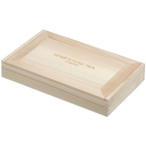 Natural wood 8 compartment gift box - Hampstead Tea - Biodynamic and Organic Teas