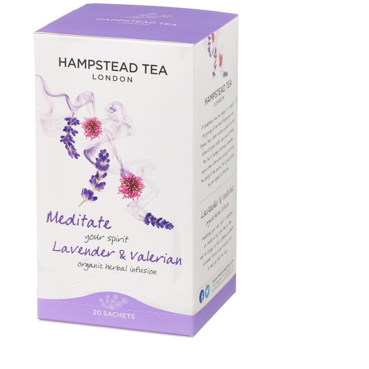 Trade Case of Organic Lavender & Valerian 4x20 Tea Bags - Hampstead Tea - Biodynamic and Organic Teas