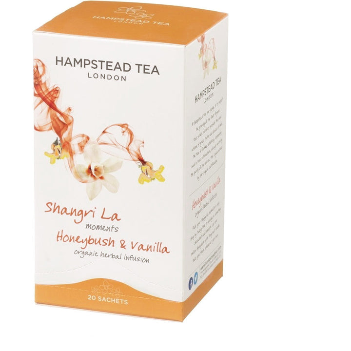 Trade Case of Organic Honeybush & Vanilla 4x20 Tea Bags - Hampstead Tea - Biodynamic and Organic Teas