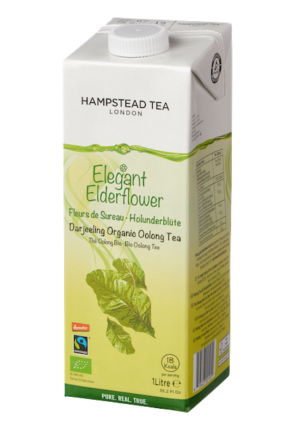 Organic Demeter and Fairtrade Oolong Iced Tea with Elderflower [ 8*1 litre] UK ONLY - Hampstead Tea - Biodynamic and Organic Teas