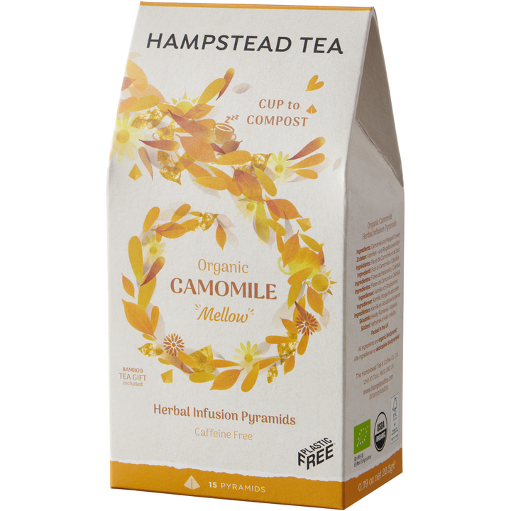 Organic Camomile & Marigold Loose Leaf Pyramids - Hampstead Tea - Biodynamic and Organic Teas