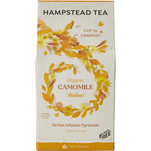 Organic Camomile & Marigold Home Compostable Pyramids - Hampstead Tea - Biodynamic and Organic Teas
