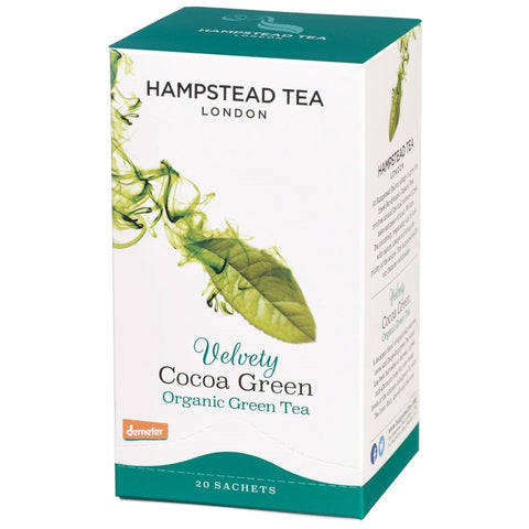 Organic Velvety Cocoa Green - Hampstead Tea - Biodynamic, Organic and Fairtrade Tea - 1