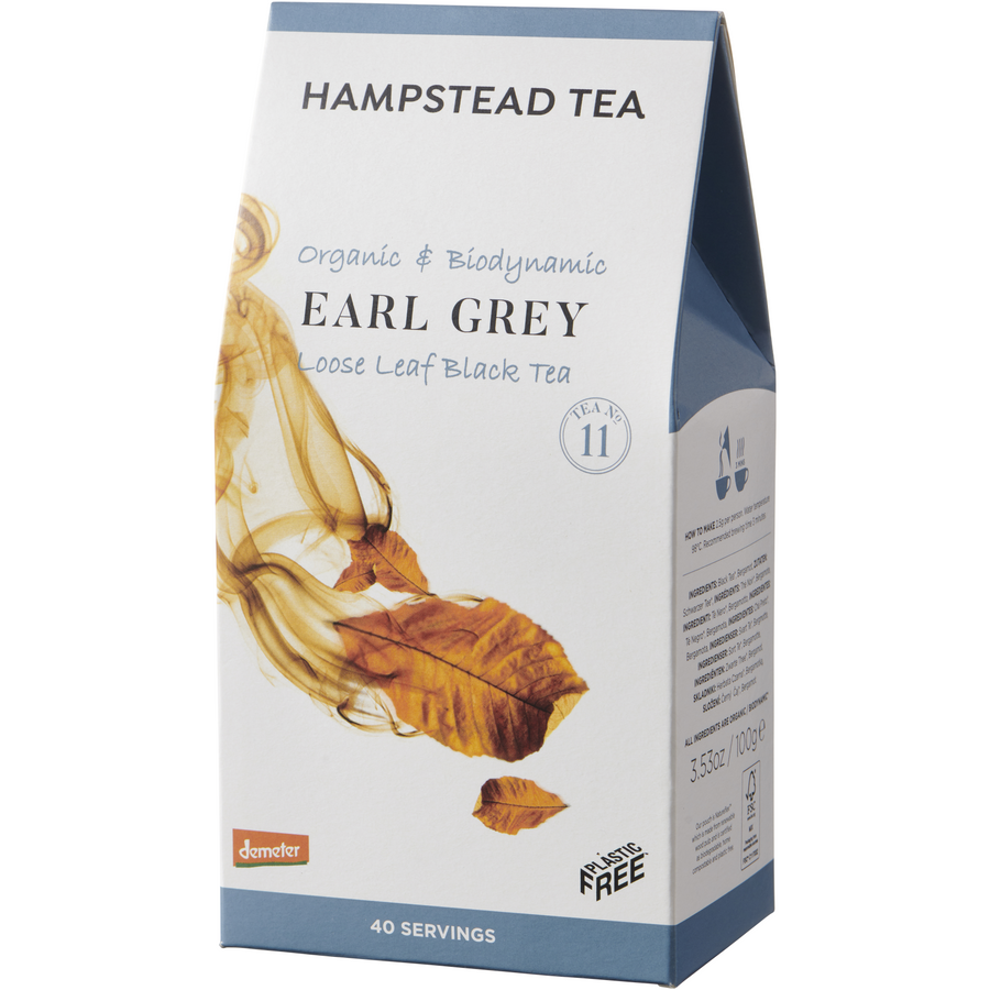 Trade Case of Organic Demeter Earl Grey Pouches - Hampstead Tea - Biodynamic and Organic Teas