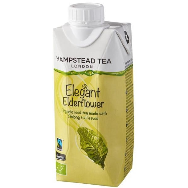 Trade Case of Organic Demeter and Fairtrade Oolong Iced Tea with Elderflower - Hampstead Tea - Biodynamic and Organic Teas