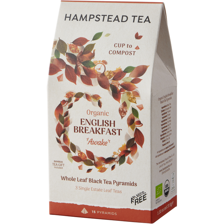 Organic English Breakfast Loose Leaf Pyramids - Hampstead Tea - Biodynamic and Organic Teas