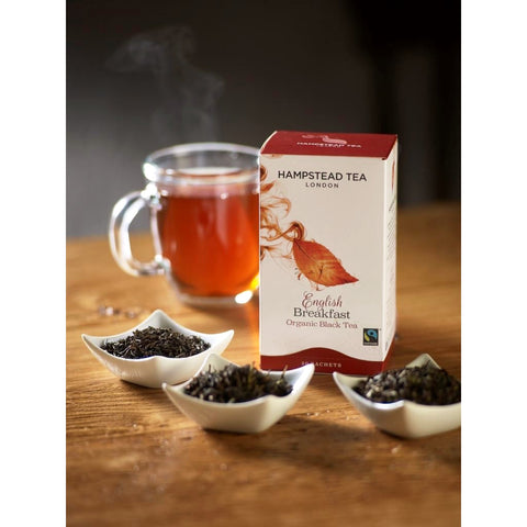 Trade Case of Organic Fairtrade English Breakfast - Hampstead Tea - Biodynamic, Organic and Fairtrade Tea - 2