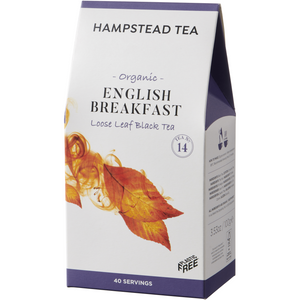 Trade Case of Organic English Breakfast Pouches - Hampstead Tea - Biodynamic and Organic Teas