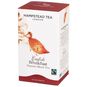 Trade Case of Organic Fairtrade English Breakfast 4x20 Tea Bags - Hampstead Tea - Biodynamic and Organic Teas