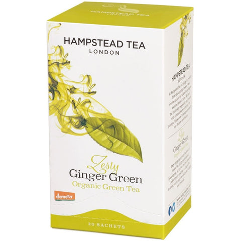 Trade Case of Organic Zesty Ginger Green - Hampstead Tea - Biodynamic, Organic and Fairtrade Tea - 1