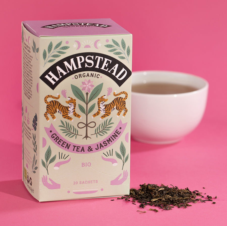 Hampstead Tea Organic Green Tea & Jasmine Tea Bags - Hampstead Tea - Biodynamic and Organic Teas