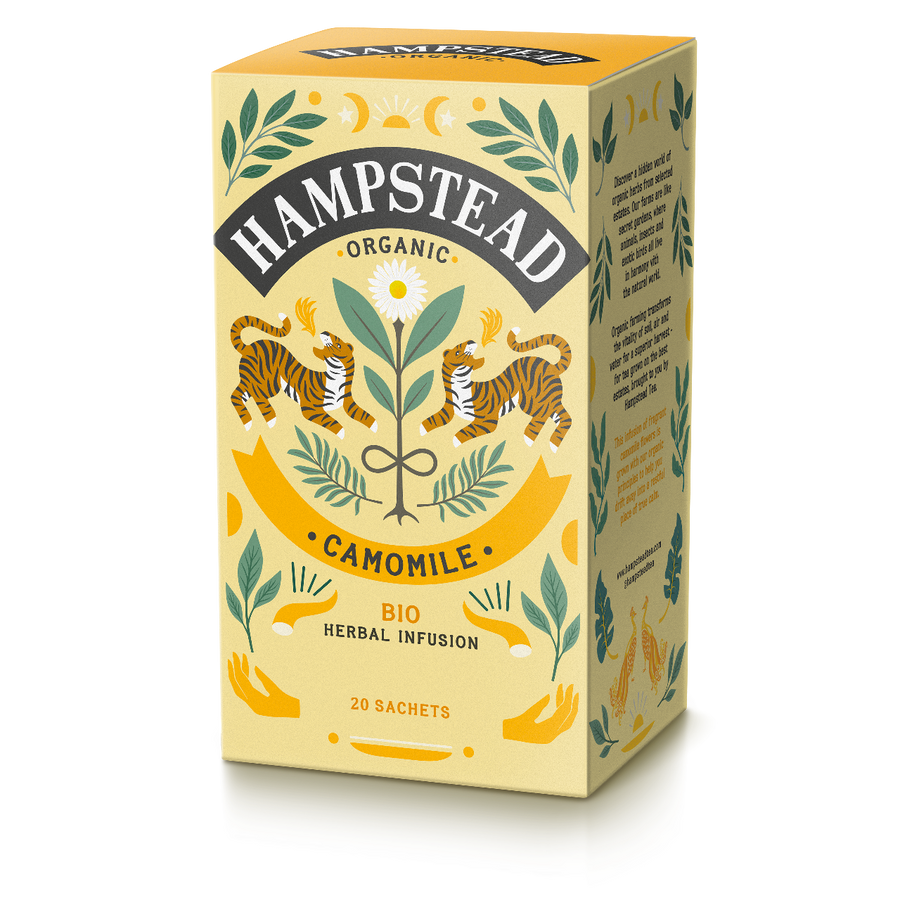 Trade Case of Organic Camomile 4x20 Tea Bags - Hampstead Tea - Biodynamic and Organic Teas