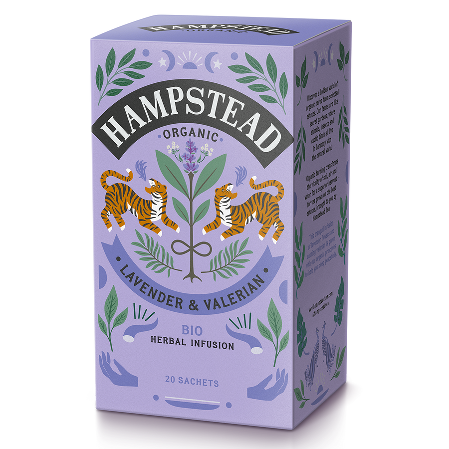 Hampstead Tea Organic Lavender & Valerian Tea Bags - Hampstead Tea - Biodynamic and Organic Teas