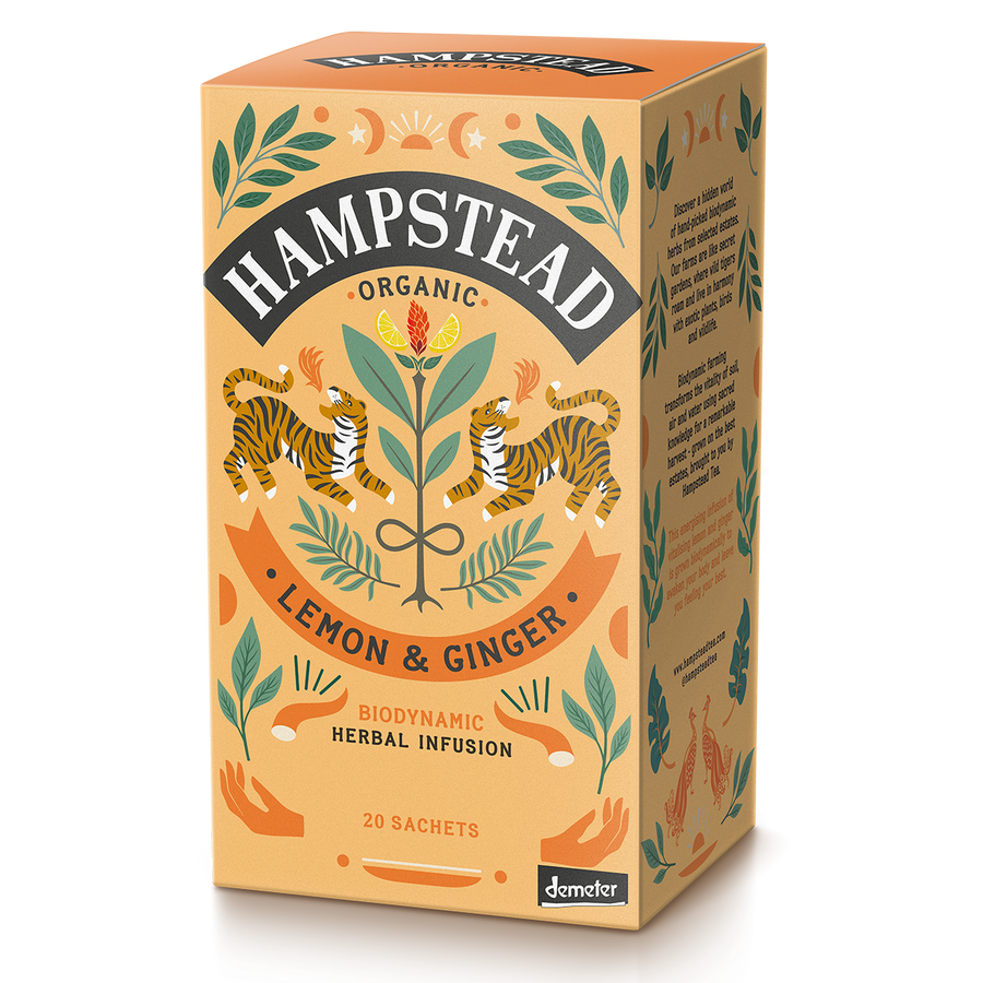 Hampstead Tea Organic Lemon & Ginger Tea Bags - Hampstead Tea - Biodynamic and Organic Teas