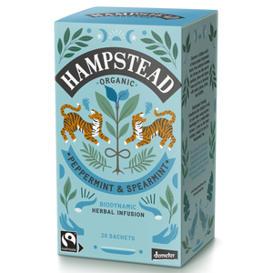 Organic Fairtrade Peppermint & Spearmint Tea Bags - Hampstead Tea - Biodynamic and Organic Teas