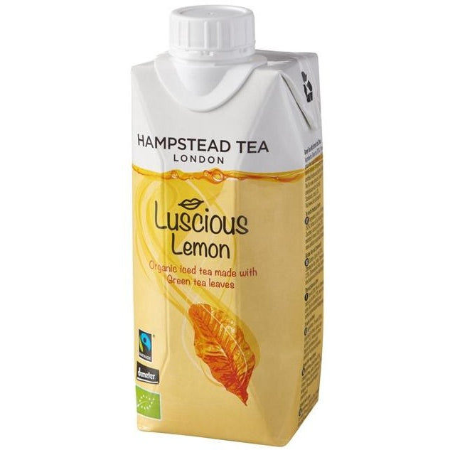 Trade Case of Organic Demeter Green Tea Iced Tea with Lemon - Hampstead Tea - Biodynamic and Organic Teas