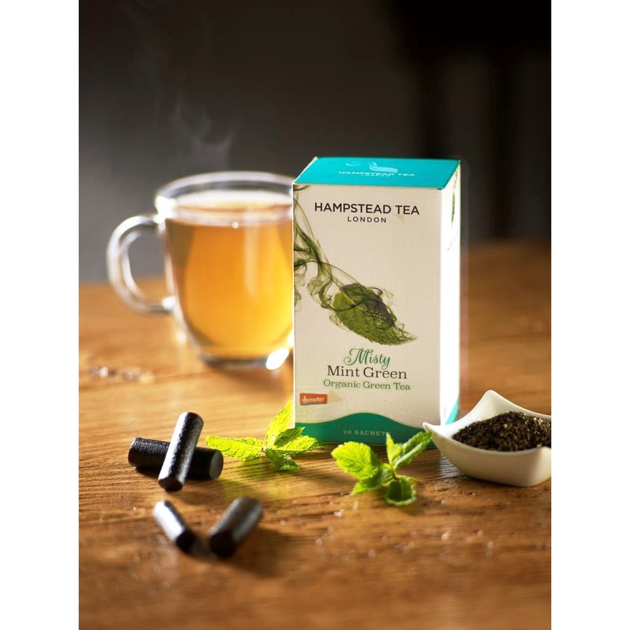 Organic Demeter Misty Mint Green Tea Bags - Hampstead Tea - Biodynamic and Organic Teas