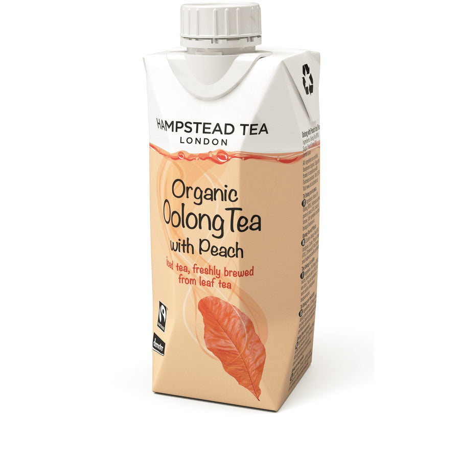 Organic Demeter Oolong Iced Tea with Peach - Hampstead Tea - Biodynamic and Organic Teas